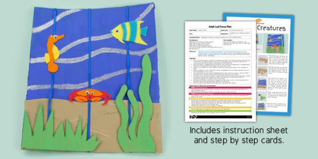 Felt Sea Creatures Picture Craft Adult Led Focus Plan Craft Pack