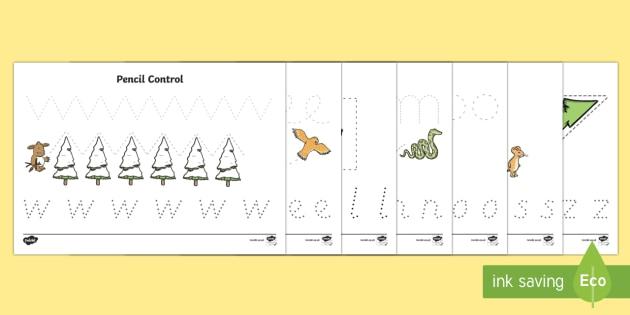 Pencil Control Activity Sheets