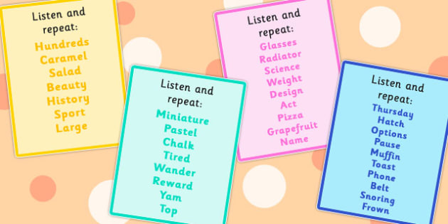 Listen and Repeat Auditory Memory Cards Set 5 - remembering