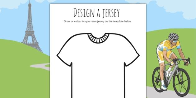 Tour de France Jersey Designing Worksheet - le tour, sports, pe