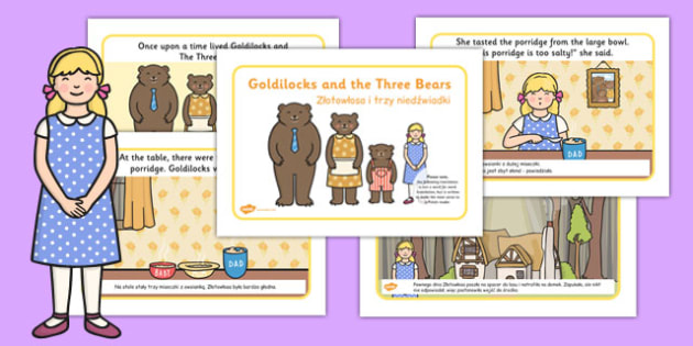 Goldilocks and the Three Bears Story Polish Translation - polish