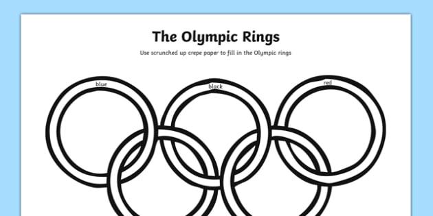 The Olympic Rings Art Activity Sheet-Australia, worksheet
