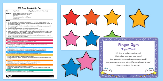 EYFS Magic Wands Finger Gym Plan and Resource Pack