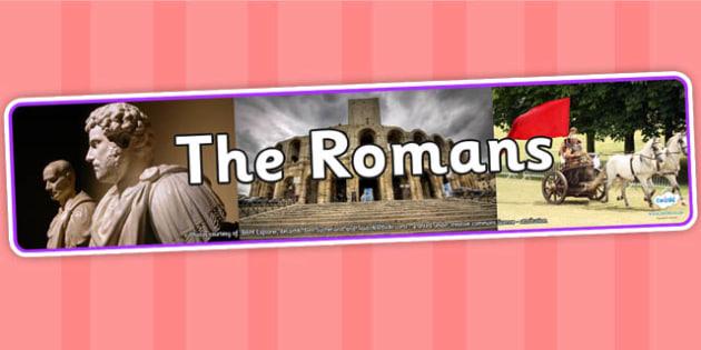 The Romans Photo Display Banner - romans, photo display banner, display banner, display, banner, photo banner, header, display header, photo header, photo