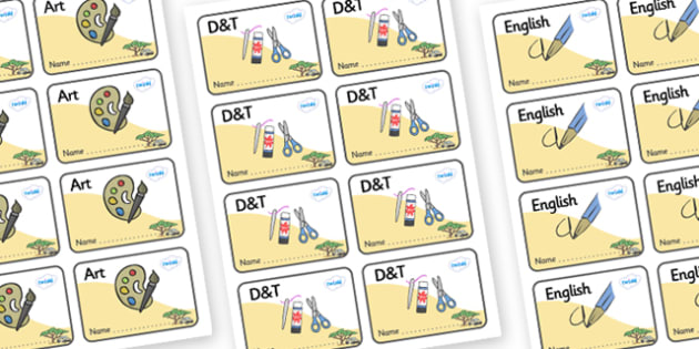 Safari Themed Editable Book Labels - Themed Book label, label, subject labels, exercise book, workbook labels, textbook labels