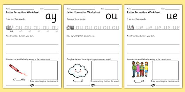 Phase 5 Letter Formation Worksheets - phase 5, letter, worksheet