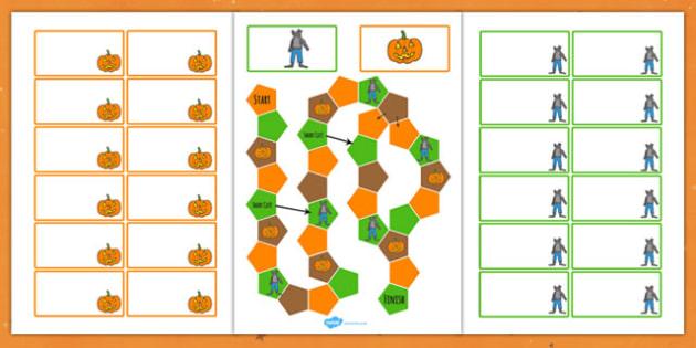 Halloween Themed Editable Board Game Colour - Halloween, Game