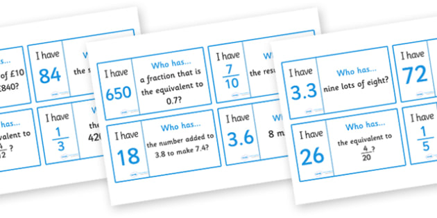 General Maths Loop Card Activity (Year 6) - general maths, loop card, year 6, year six, loop cards, cards, flashcards, loop, image, activity, maths, mathematics, general, Math