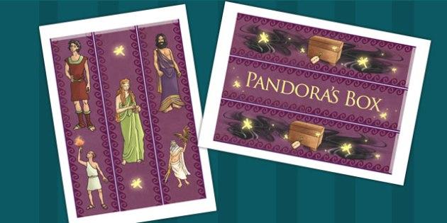Pandroas Box Ancient Greek Myth Display Borders