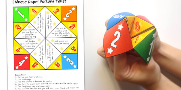 Chinese New Year Paper Fortune Teller - australia, craft, paper