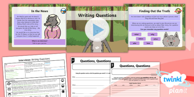 PlanIt Y1 Traditional Tales: Little Red Riding Hood Lesson Pack Interviews (1)