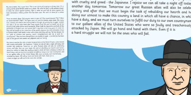 Churchills VE Day Speech - churchill's, ve day, speech, churchill
