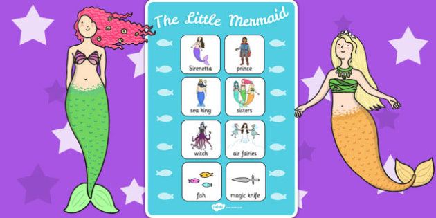 The Little Mermaid Vocabulary Poster - story book, reading, vocab