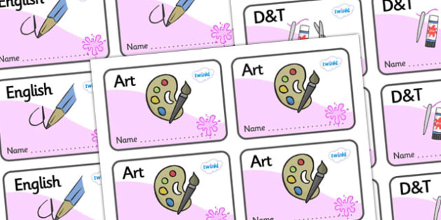 Pink Themed Editable Book Labels - Themed Book label, label, subject labels, exercise book, workbook labels, textbook labels