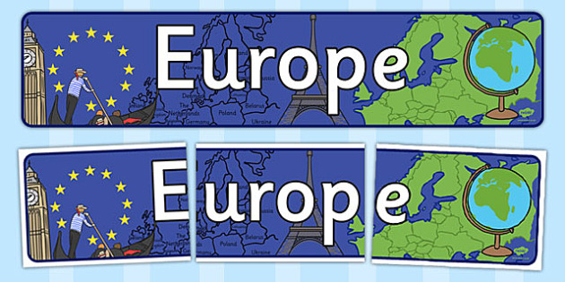 Europe Display Banner - europe, display banner, countries, banner
