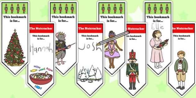 The Nutcracker Editable Bookmarks - nutcracker, bookmarks, edit