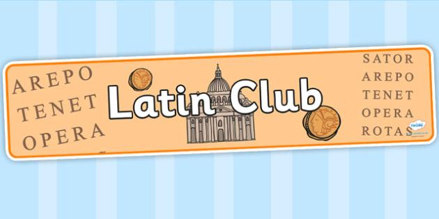 Latin Club Display Banner - latin club, display banner, banner for display, display, banner, header, header for display, header display, display header