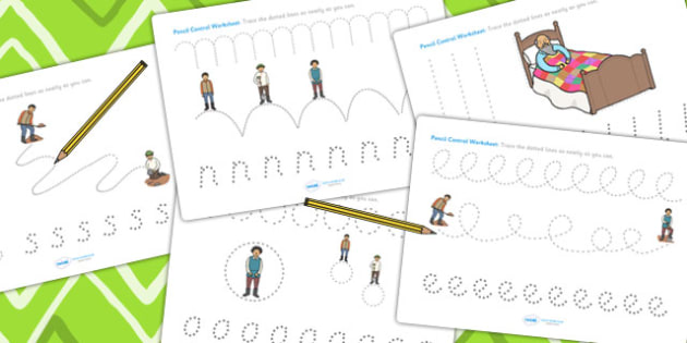 The Farmer and His Sons Pencil Control Sheets - fine motor skills