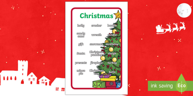 Ikea Tolsby Christmas Words Prompt Frame