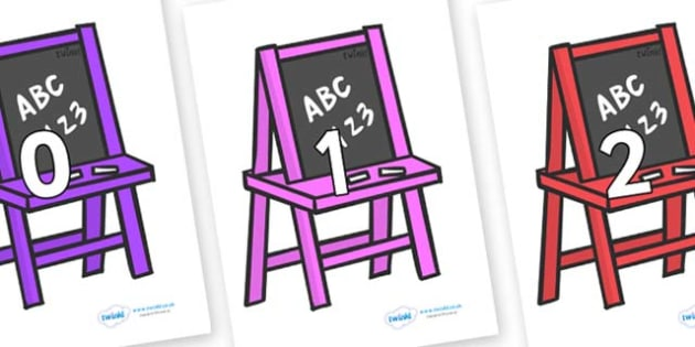 Numbers 0-50 on Chalk Boards - 0-50, foundation stage numeracy, Number recognition, Number flashcards, counting, number frieze, Display numbers, number posters