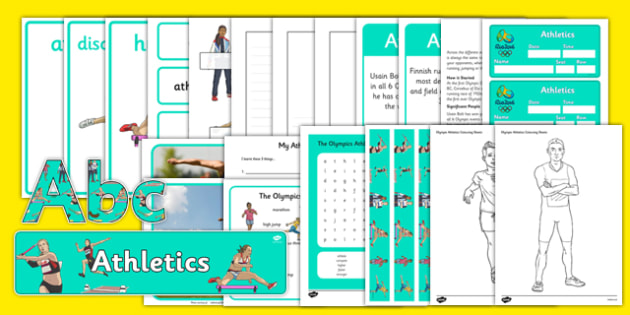 The Olympics Athletics Resource Pack - Olympics, Olympic Games, sports, Olympic, London, 2012, role play, play, pack, Olympic torch, flag, countries, medal, Olympic Rings, mascots, flame, compete, athletics, race, running, sprint, jumping, high jump,
