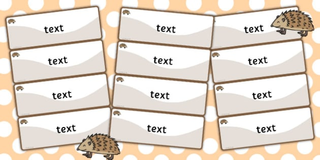 Hedgehog Themed Editable Drawer-Peg-Name Labels (Colourful) - Themed Classroom Label Templates, Resource Labels, Name Labels, Editable Labels, Drawer Labels, Coat Peg Labels, Peg Label, KS1 Labels, Foundation Labels, Foundation Stage Labels, Teaching