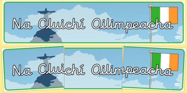 Rio 2016 Irish Olympics Display Banner Gaeilge - Irish, Gaeilge, Olympics, Banner, Display, Rio