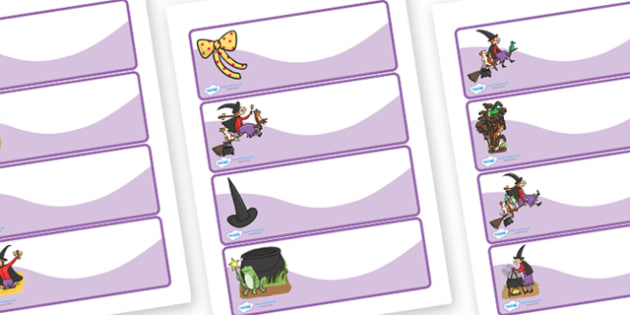 Editable Drawer Peg Name Labels to Support Teaching on Room on the Broom - peg labels
