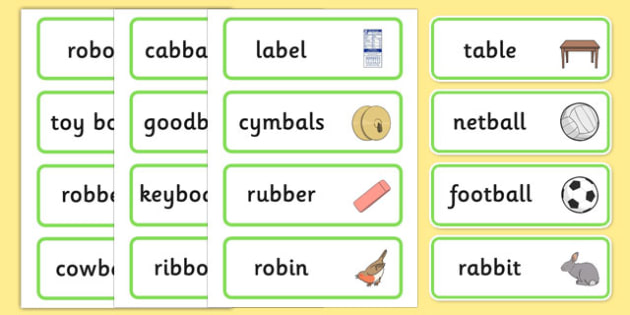 Medial 'b' Word Cards - speech sounds, phonology, articulation, speech therapy, dyspraxia