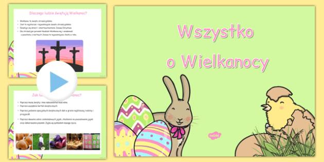 Prezentacja PowerPoint Wszystko o Wielkanocy po polsku - święta