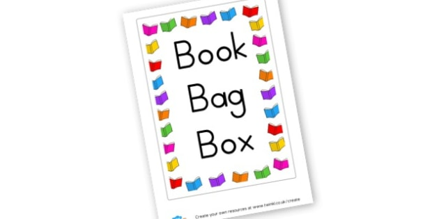 Book Bag Box Label - Classroom Signs & Label Primary Resources, labels, posters, rules