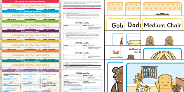 EYFS Goldilocks and the Three Bears Bumper Planning Pack - Goldilocks and the Three Bears, traditional tales, eyfs, early years planning, adult led.