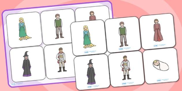 Rapunzel Matching Cards and Board - rapunzel, rapunzel matching game, rapunzel picture matching activity, rapunzel sen image matching game, sen activities
