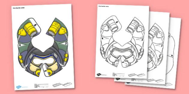 Diver Bee Bot Jacket - diver, bee bot, beebot, bee-bot, jacket, under the sea