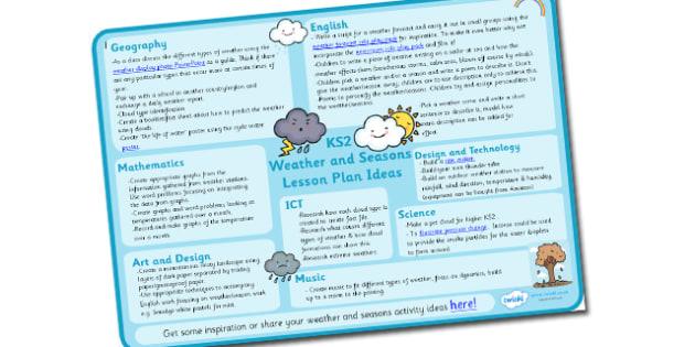 Weather and Seasons Lesson Plan Ideas KS2 - weather and seasons, weather and seasons lesson plan, weather and seasons lesson ideas, lesson plan, MPT, KS2