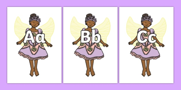 A-Z Alphabet on Fairies - Fairies, Fairy, topic, fantasy, Alphabet frieze, Display letters, Letter posters, A-Z letters, Alphabet flashcards,