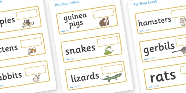 Editable Pet Shop Price Labels - Pets, shop, price, price labels, for sale, cat, dog, rabbit, mouse, guinea pig, rat, hamster, gerbil, horse, puppy, kitten, snake, chinchilla, snail, lizard, budgie