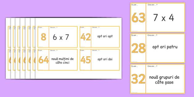 Domino cu tabla înmulțirii cu 6, 7, 8 si 9 - Joc matematic