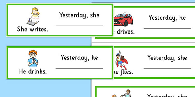 What Did They Do Fill in The Irregular Past Tense Cards - SLI, grammar, ASD, EAL, language disorder, Language delay, Word Order