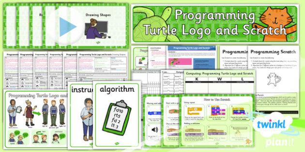 PlanIt Computing Year 2 Programming Turtle Logo Scratch Unit Pack