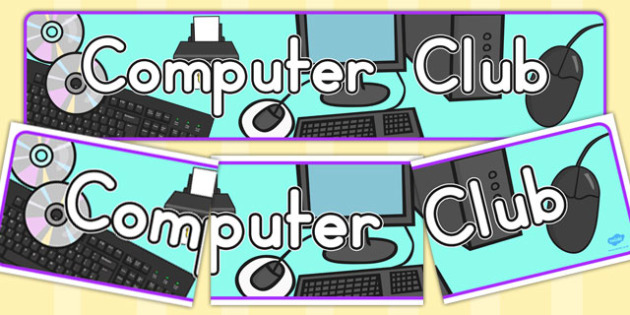 Computer Club Display Banner - banners, displays, computers