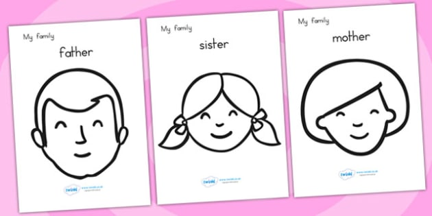 My Family Colouring Sheets - family, ourselves, colouring, games