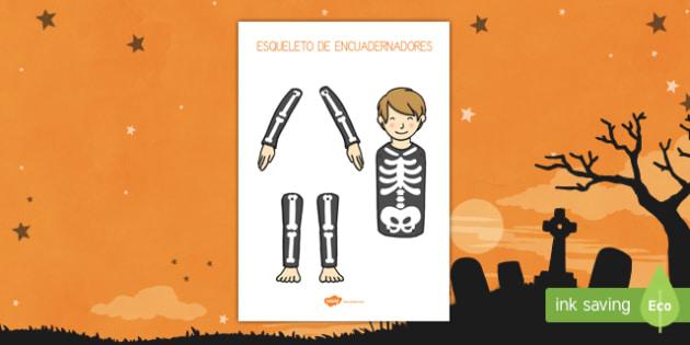 Esqueleto actividad de encuadernadores