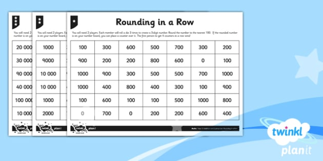 PlanIt Y5 Addition and Subtraction Rounding in a Row Home Learning - home learning, homework, extend, rounding, mental calculation, differentiated, problem solving, game