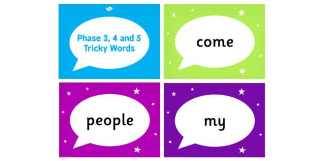Tricky Words PowerPoint - tricky words, powerpoint, words, tricky
