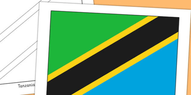 Tanzania Flag Display Poster - countries, geography, flags