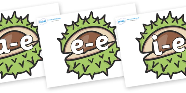 Modifying E Letters on Horse Chestnuts - Modifying E, letters, modify, Phase 5, Phase five, alternative spellings for phonemes, DfES letters and Sounds