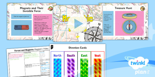 PlanIt - Science Year 3 - Forces and Magnets Lesson 5: Magnetic Poles Lesson Pack