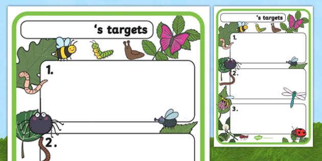 Themed Target Sheets Minibeasts - Target Sheets, Themed Target Sheets, Minibeast Target Sheets, Minibeast Themed, Minibeast Themed Target Sheets