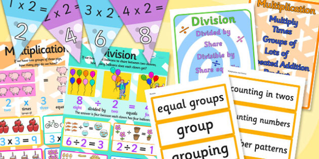 Multiplication and Division Display Pack KS1 - display pack